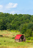 Red Roof Barn Stock Photo