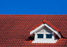 Red Roof on blue sky Royalty Free Stock Photography
