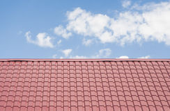 red roof with blue sky Stock Photo