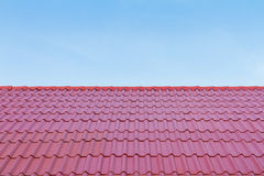 Red roof and blue sky Royalty Free Stock Photography