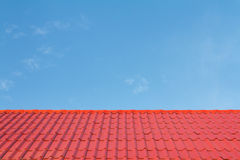 Red roof and blue sky Royalty Free Stock Photos