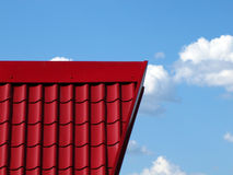 Red Roof Blue Sky Stock Photo
