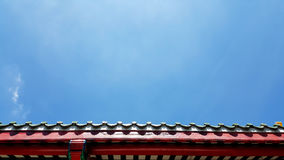 Red roof with blue sky photo stock Royalty Free Stock Photos