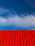Red Roof Blue Sky White Clouds Abstract Royalty Free Stock Photography