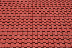 The red roof. Of building in Thailand Stock Photography