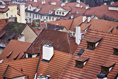 Red roof of buildings Stock Image