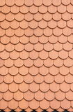 Red roof clay tiles Stock Photo