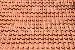 Red roof clay tiles Stock Images