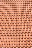 Red roof clay tiles Stock Photography