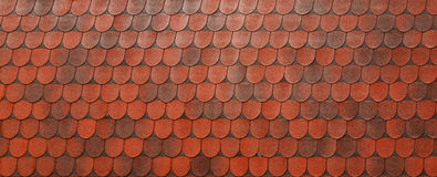 Red roof clay tiles Stock Photos