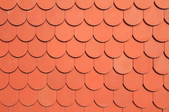 Red roof. Curve shaped design Royalty Free Stock Images