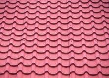 Red Roof-de Tegel is Inkepingen stock foto's