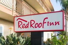 Red Roof-Herbergenteken en Embleem Royalty-vrije Stock Afbeelding