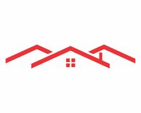Red roof logo Royalty Free Stock Photo