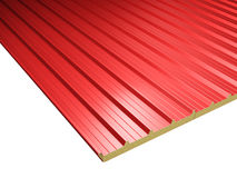 Red Roof Panels. Roof surface consisting of a red roof panels vector illustration