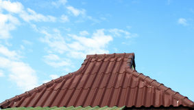 Red roof and sky Royalty Free Stock Photography