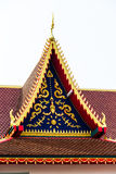 Roof temple. Red roof temple thailand art Royalty Free Stock Photo