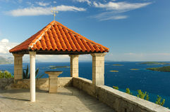 Red roof terrace Royalty Free Stock Images