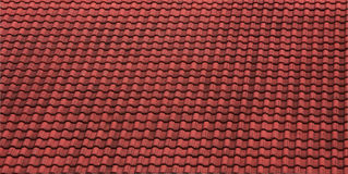 Red Roof Texture Stock Image