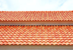 Red roof texture Royalty Free Stock Images