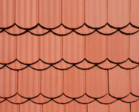 Red roof texture Royalty Free Stock Image