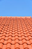 Red roof texture tile Royalty Free Stock Photos