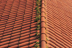 Red roof tile Stock Photo