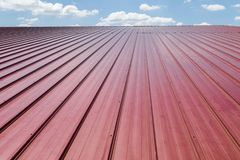 Red roof tile and blue sky with cloud. Stock Photography