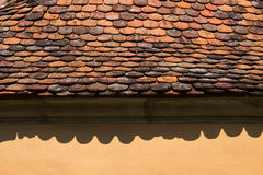 Red roof tile close up Royalty Free Stock Images