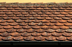 Red roof tile close up Stock Photography