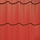 Red roof tile fragment Stock Photo