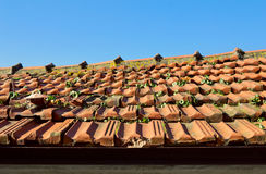 Red roof tile of old town Royalty Free Stock Photos
