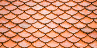 Red roof tile pattern background Stock Photography