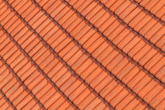 Red roof tile pattern Stock Images