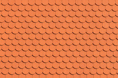 Red roof tile pattern Royalty Free Stock Photo