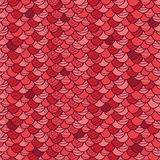 Red roof tile seamless pattern background Royalty Free Stock Photos