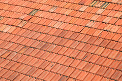 Red Roof Tile Texture. Closeup View Stock Images