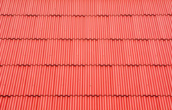 Red roof tiled texture Stock Photo