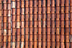 Red roof tiles. A view of a spanosh red roof tiles Stock Photo