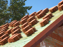 Red roof tiles Stock Photography