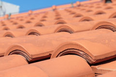 Red roof tiles Stock Photo