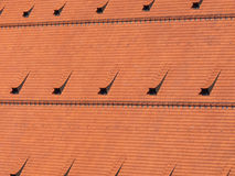 Red roof tiles background Stock Photos