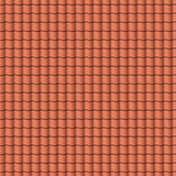 Red roof tiles background texture in regular rows.Seamless pattern. Vector illustration. Stock Image
