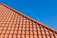 Red roof tiles Royalty Free Stock Photography