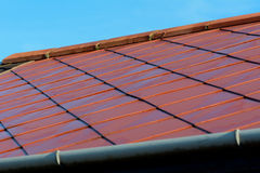 Red roof tiles Stock Images