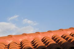 Red roof tiles, Kefalonia, September 2006 Stock Photos