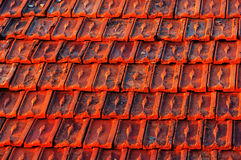 Red roof tiles pattern Royalty Free Stock Photo