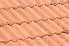 The red roof tiles with stains Royalty Free Stock Image