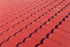 Red roof tiles texture Stock Photos