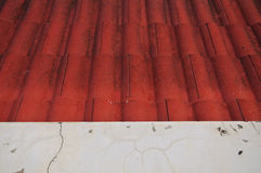 Red roof tiles texture Stock Images